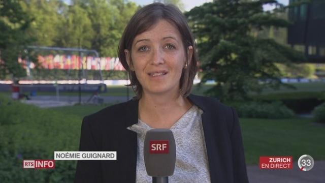 FIFA - Démission Blatter: les précisions de Noémie Guignard, à Zurich [RTS]