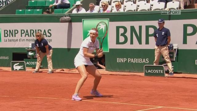 1-4 dames, Timea Bacsinszky (SUI) - Alison Van Uytvanck (BEL) (0-0): super départ de la Suissesse qui break d'entrée [RTS]