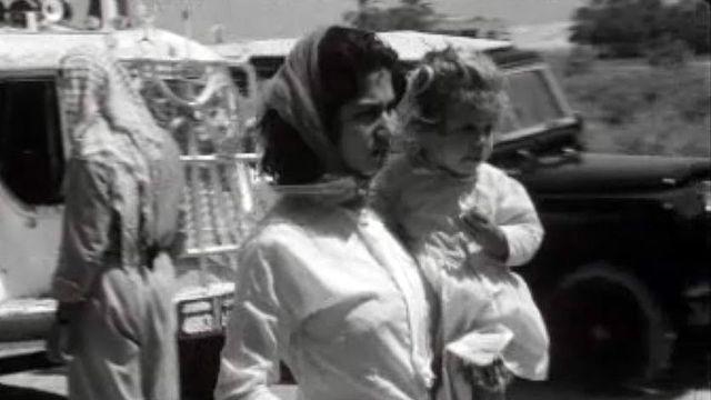 Le difficile retour des réfugiés palestiniens après la guerre des Six jours.