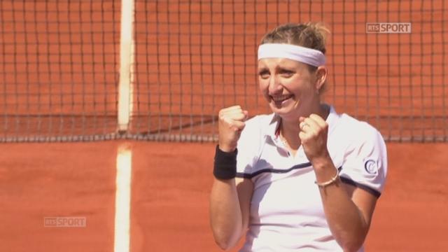 1-4 dames, Timea Bacsinszky (SUI) - Alison Van Uytvanck (BEL) (6-4, 7-5): la Vaudoise s'impose face à la Belge et se qualifie pour la demi-finale [RTS]