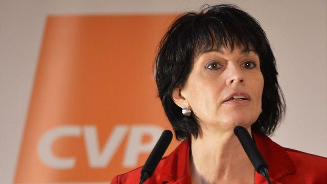 Le PDC Suisse a décidé de suivre sa conseillère fédérale Doris Leuthard. [Urs Flueeler - Keystone]
