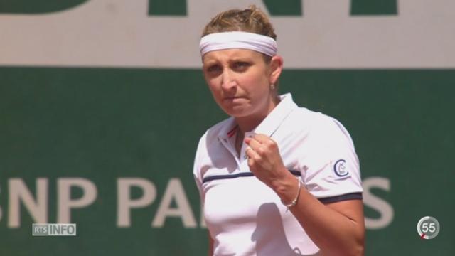 Tennis - Roland-Garros: Timea Bacsinszky a brillé en quart de finale et se hisse en demi-finale [RTS]