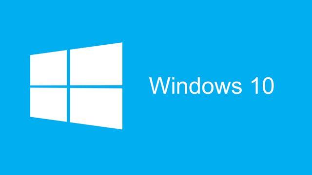La mise à jour vers Windows 10 sera gratuite durant un an. [Logo officiel]
