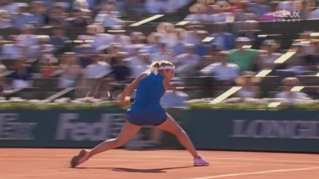 1-2 dames, Serena Williams (USA) - Timea Bacsinszky (SUI) (4-6): la Suissesse remporte ce 1er set [RTS]