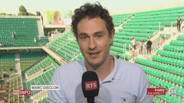 Tennis - Roland-Garros: les précisions de Marc Gisclon [RTS]