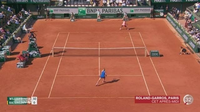 Tennis - Roland-Garros: Timea Bacsinszky s'est inclinée face à Serena Williams [RTS]