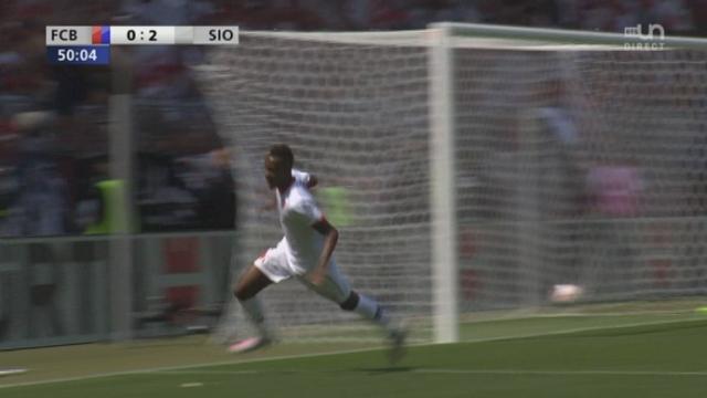 Finale, FC Bâle - FC Sion (0-2): Edimilson Fernandes double la mise et rapproche Sion de la coupe [RTS]