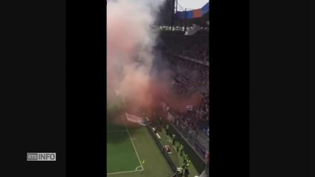 La finale de la Coupe de Suisse de football interrompue par des fumigènes [RTS]