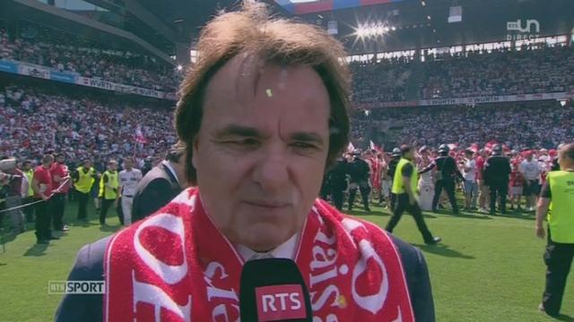 Finale, FC Bâle - FC Sion (0-3): interview de Christian Constantin président du FC Sion [RTS]