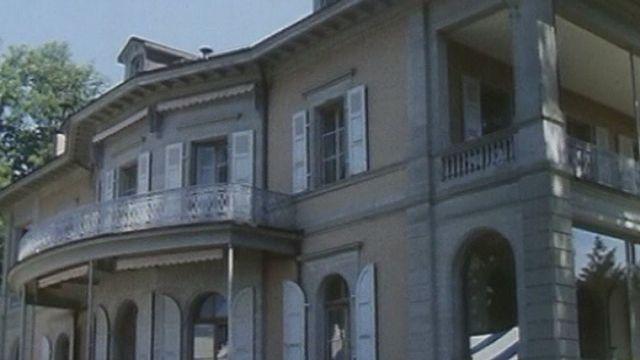 Villa de la Fondation de l'Hermitage à Lausanne en 1989. [RTS]