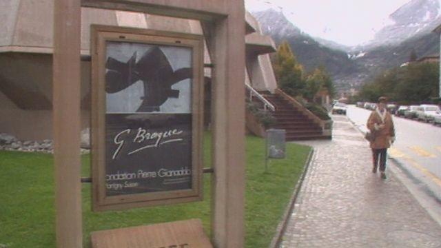 La Fondation Pierre Gianadda à Martigny en 1992 lors de l'exposition Georges Braque. [RTS]