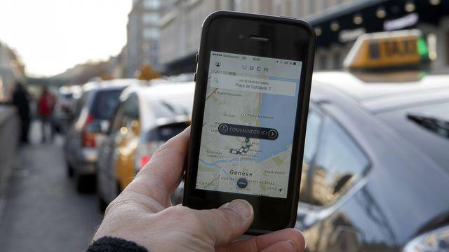 Uber à Genève. [Salvatore Di Nolfi - Keystone]