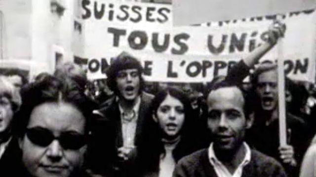 Mai 68 à Lausanne, les étudiants défilent pour changer la vie.