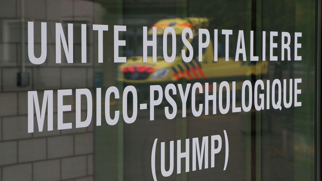 Entrée de l'unité psychiatrique de l'hôpital du Jura à Delémont. [Gaël Klein - RTS]