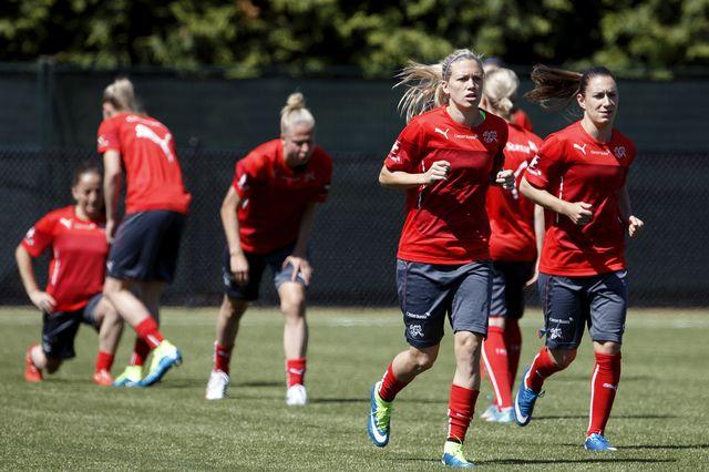 L'équipe suisse féminine de football va affronter l'Equateur. [Salvatore Di Nolfi - Keystone]