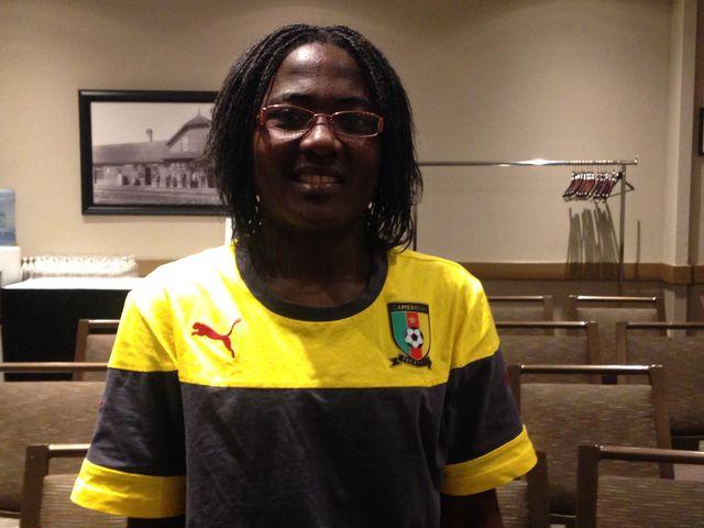 Francine Zouga et le Cameroun pourraient bien se qualifier pour les 8es de finale. [RTS]
