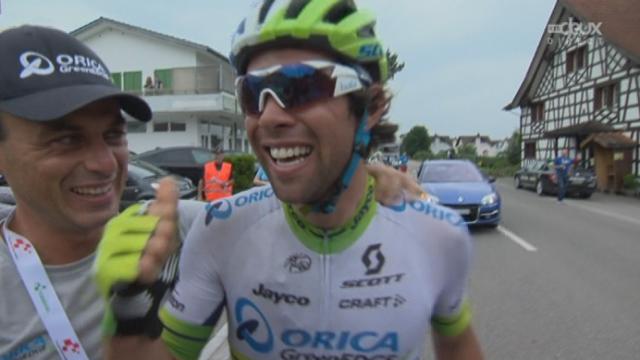 4e étape, Flims-Laax - Schwarzenbach: Michael Matthews (AUS) bat Peter Sagan (SLO) au sprint final et remporte cette étape [RTS]