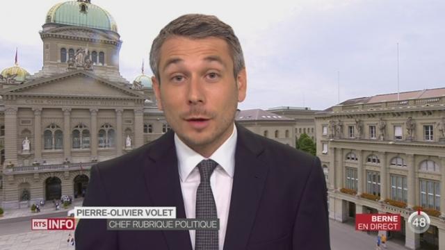 Réforme de l'armée: les précisions de Pierre-Olivier Volet à Berne [RTS]