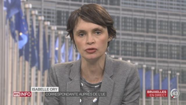 Dette grecque: les précisions d'Isabelle Ory à Bruxelles [RTS]