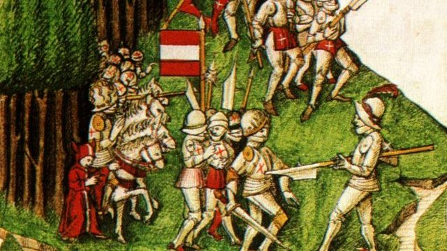 La bataille de Morgarten. [Wikimédia]