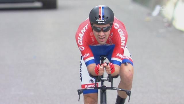 9e étape, Berne (contre-la-montre individuel):  Tom Dumoulin devance Fabian Cancellara et récupère la première place [RTS]