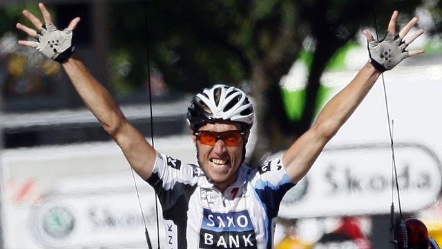 Sorensen avait notamment remporté la 12e étape du Tour de France en 2009. [Jean-Paul Pelissier - Reuters]