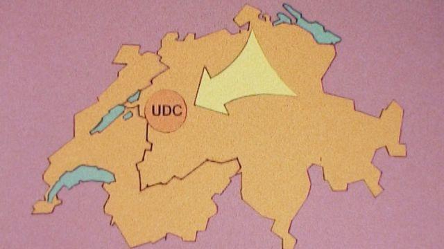 En 1979, l'UDC est un parti méconnu des Romands. [RTS]