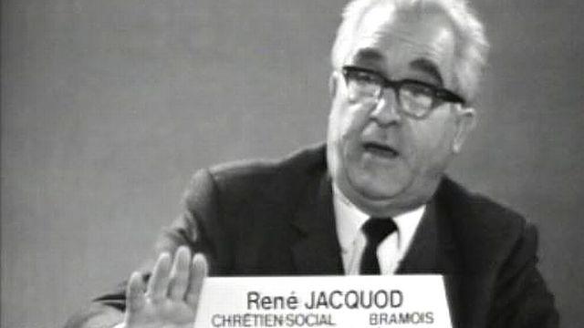 Le conseiller national René Jacquod en 1967 [RTS]