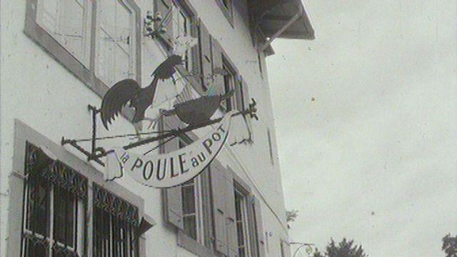 L'auberge La poule au pot de Chardonne en 1966. [RTS]