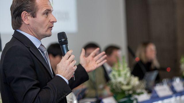 Vice-président du PVL suisse, Laurent Seydoux a été placé en tête de la liste des Vert'libéraux genevois. [Pablo Gianinazzi - Keystone]