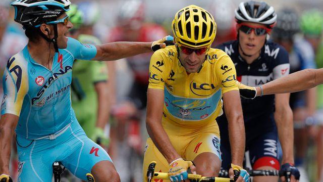 Nibali remporte le Tour de France 2014.  [Laurent Rebours - Keystone]