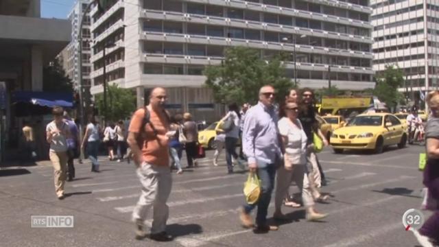 Grèce: les banques ont fermé et les retraits sont limités jusqu'au référendum [RTS]