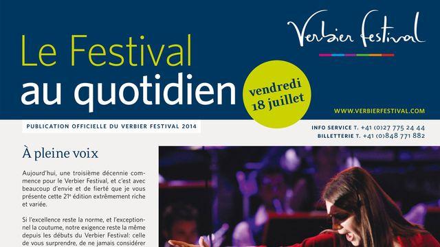 E-Journal du Verbier Festival. [verbierfestival.com]
