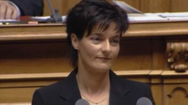Ruth Metzler quitte le Conseil Fédéral en 2003. [RTS]