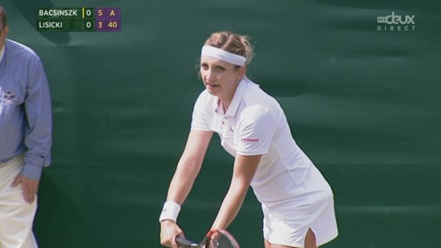 3e tour, Timea Bacsinszky (SUI) - Sabine Lisicki (ALL) (6-4): la Vaudoise remporte la première manche [RTS]