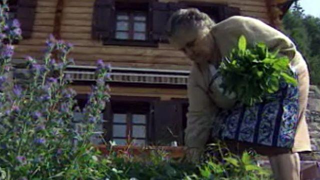 Les plantes médicinales n'ont pas de secret pour Germaine.