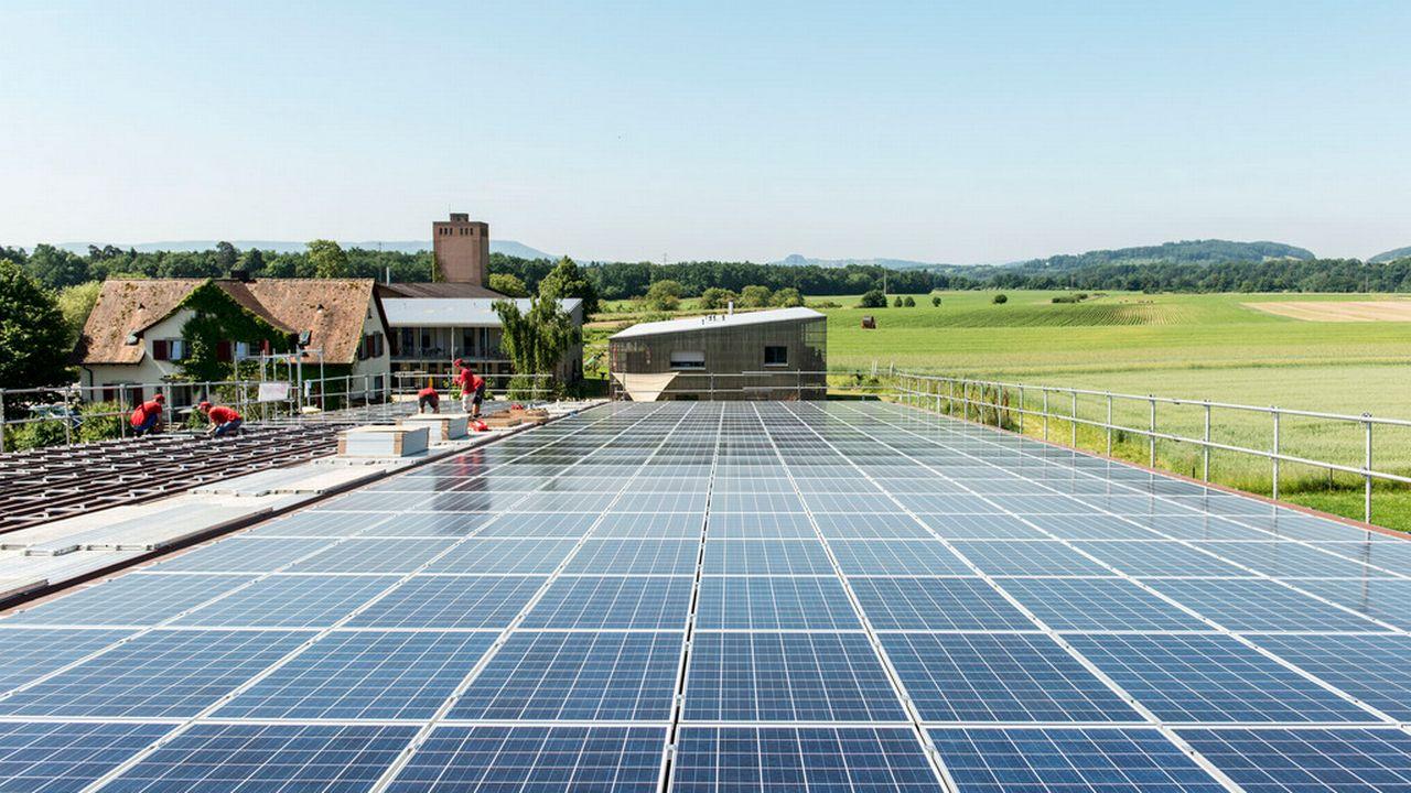 Panneaux solaires [Christian Beutler - Keystone]