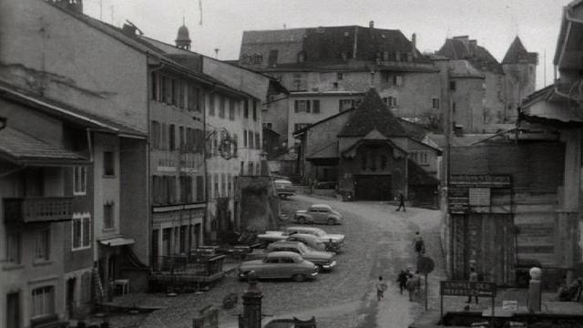 La ville de Gruyères en 1960 [RTS]