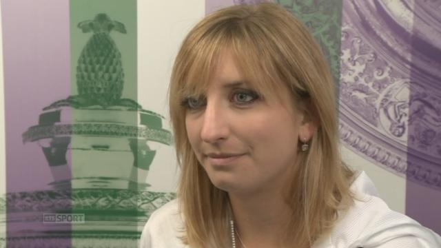 ¼ dames, Garbine Muguruza (ESP-20) - Timea Bacsinszky (SUI-15) (7-5 6-3).  L'interview de Timea Bacsinszky [RTS]