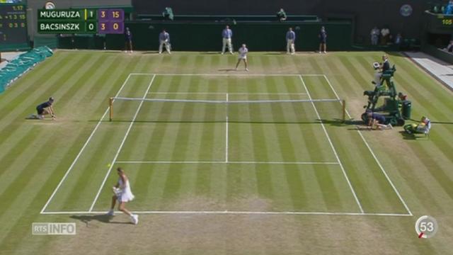 Tennis- Wimbledon: Timea Bacsinszky été battue en deux sets par l'Espagnole Garbiñe Muguruza [RTS]