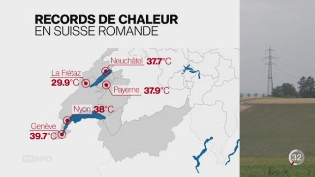 Canicule: un record a été dépassé à Genève avec une température de 39,7°C [RTS]
