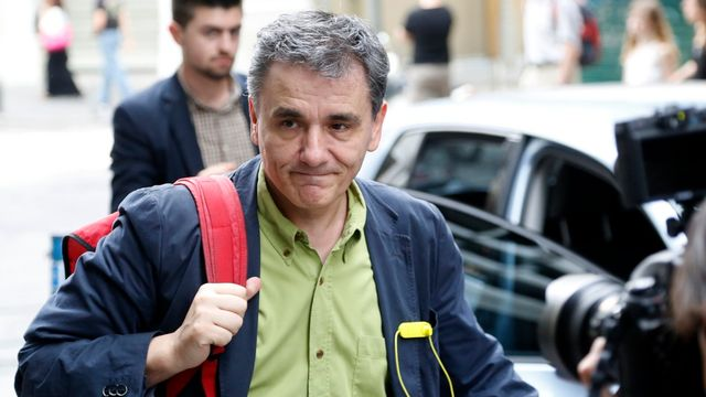 Le nouveau ministre grec des Finances Euclide Tsakalotos. [Petros Karadjias - AP/Keystone]