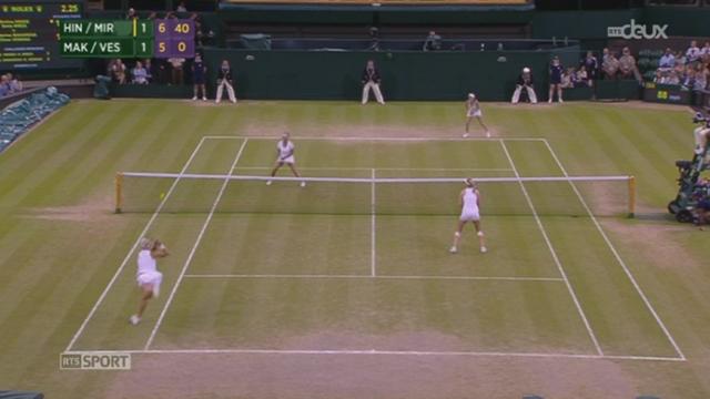 Tennis - Wimbledon: Martina Hingis s'impose en finale en compagnie de Sania Mirza [RTS]