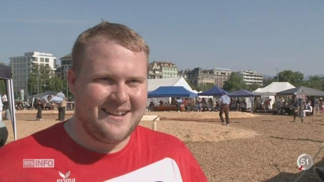 GE: la ville a accueilli la fête de lutte suisse [RTS]