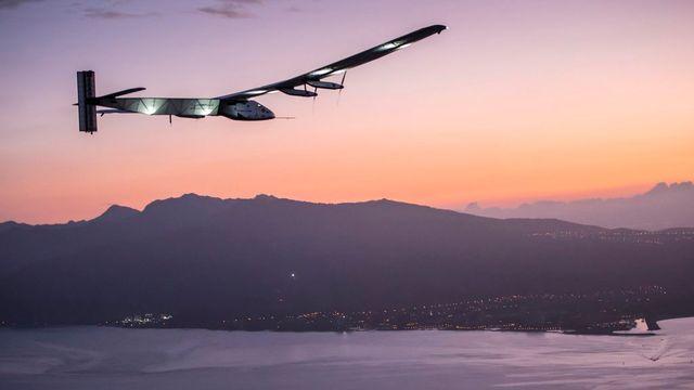L'arrivée de Solar Impulse à Hawaï le 3 juillet 2015. [Jean Revilard - EPA/Solar Impulse]