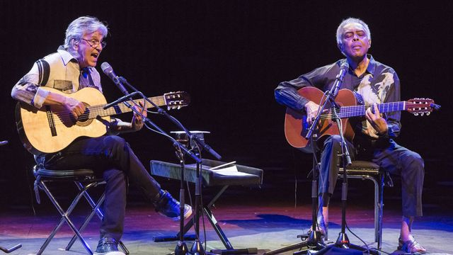 Caetano Veloso et Gilberto Gil. [Torben Christensen - AFP/Scanpix Denmark]