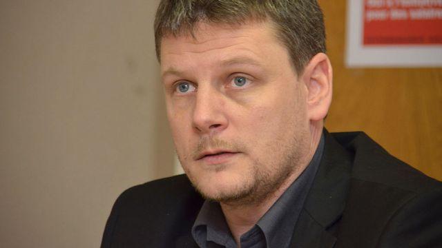 Pierluigi Fedele, membre du comité directeur d'Unia. [Gaël Klein - RTS]