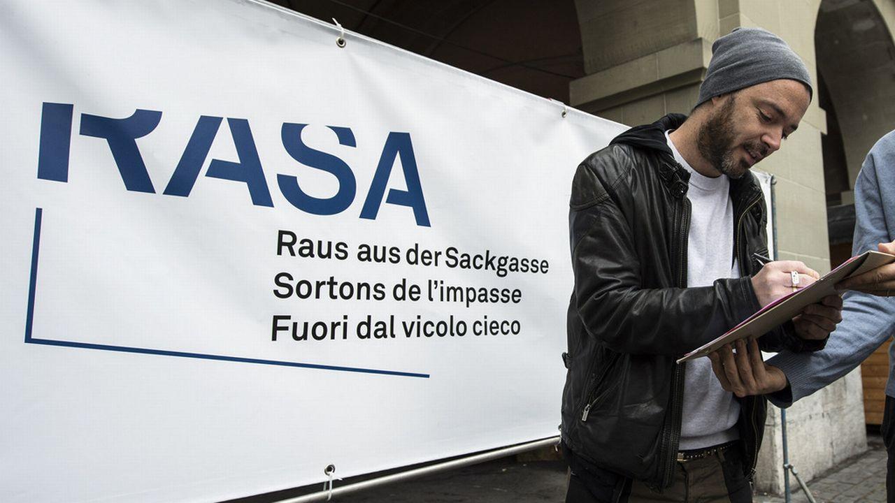L'initiative RASA aurait déjà obtenu 70'000 signatures. [Peter Schneider - Keystone]