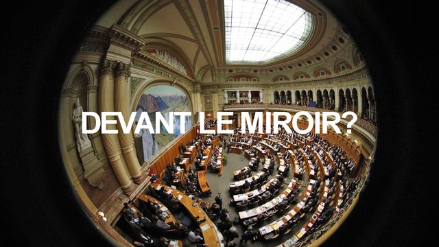 Homo Politicus 3 miroir [Peter Klaunzer - Keystone]