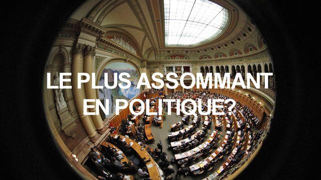 Homo Politicus 8 assommant en politique [Peter Klaunzer - Keystone]